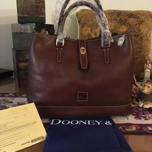 1 WEEK ONLY! D&B FLORENTINE PERRY SATCHEL/CHSTNT
